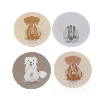מתלים בצורת כלב(4 אריזות)