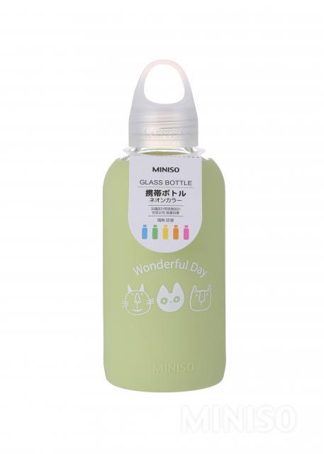 """בקבוק זכוכית Zoo ירוק 500 מ""""ל"""