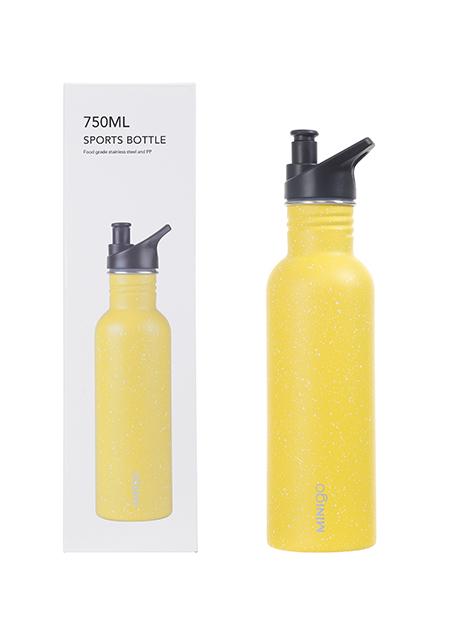 """בקבוק ספורט 750 מ""""ל (צהוב)"""