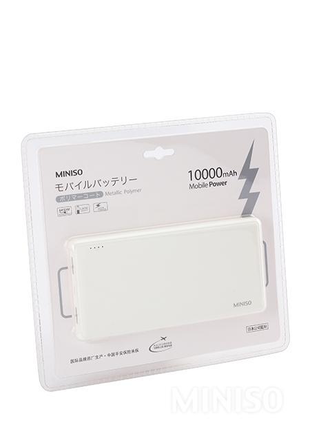 מטען נייד Fashional Ultrathin Polymer 10000AH (לבן)