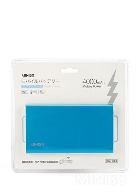סוללת חירום דקה במיוחד 4000mAh מסגסוגת אלומיניום (כחול) מודל:C6