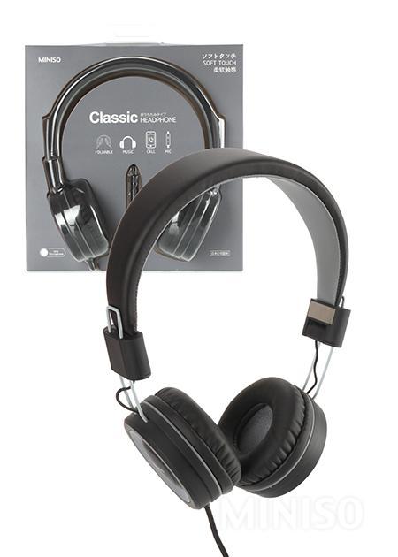אוזניות מתקפלות (אפור ושחור)