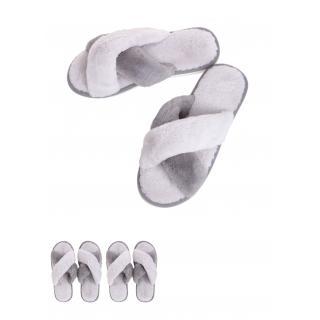 נעלי בית נשים דגם כפכף פתוח(אפור 41-42)