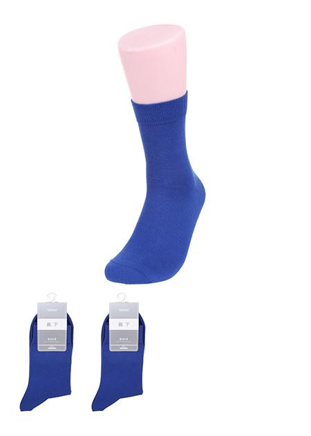 גרביים קצרים בצבע אחיד לגבר(כחול)