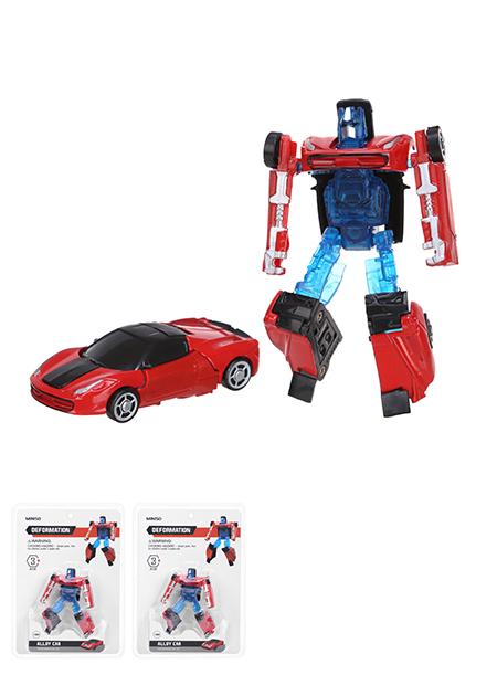 צעצוע סגסוגת מכונית משנה צורה 1:64 [דגם: SY8018A-3] (אדום וכחול)