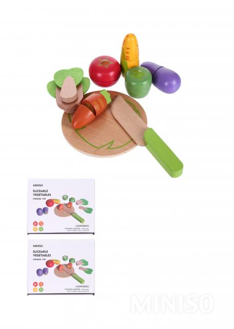 משחק חיתוך ירקות מעץ TG1019
